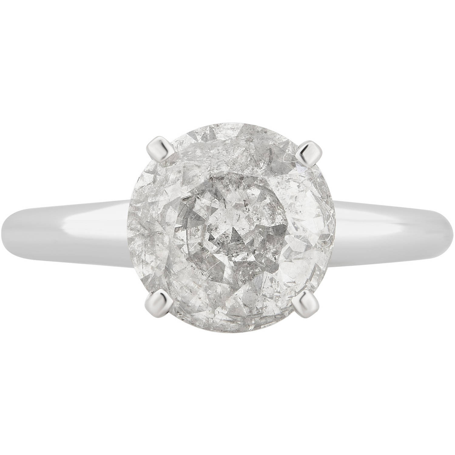 2 3 4 Carat T.W. 18kt White Gold Diamond Solitaire Engagement Ring Comes in a Box by Generic