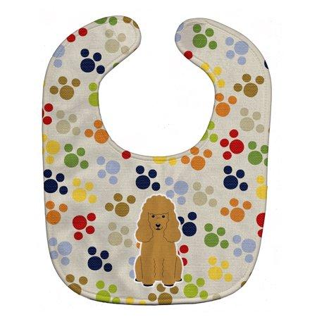 - Pawprints Poodle Tan Baby Bib BB5898BIB