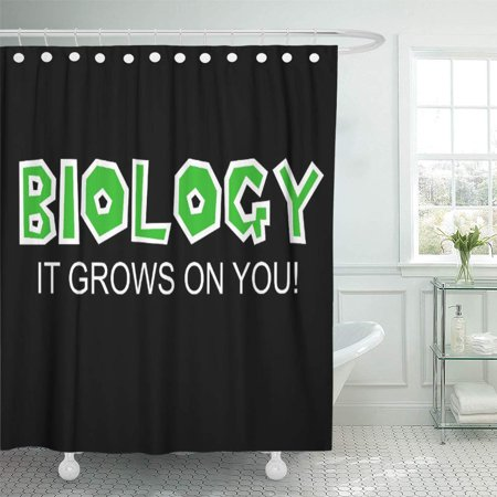 SUTTOM Science Biology It Grows on Scientist Biologist Funny Humor Shower Curtain 60x72 inch - image 1 of 1