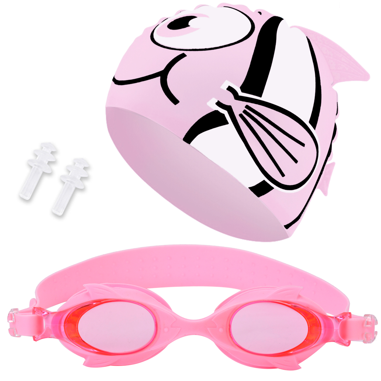 Kids Swim Cap Swim Goggles Set, Aniwon Anti Fog Swim Goggles Waterproof Silicone Swimming Cap with Ear Plugs for Boys... by Outgeek