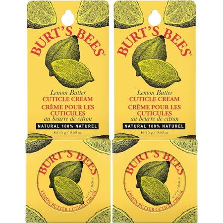 (2 Pack - Burt's Bees Lemon Butter Cuticle Cream Tin .6Oz Each)