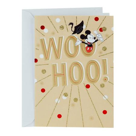 Hallmark Mouse - Hallmark Disney Graduation Card (Mickey Mouse Woo-Hoo!)