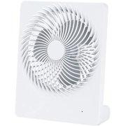 Mini Box Fan, Desk Box Fans Frameless, Portable Personal Desk Fan, Rechargeable Small Usb Table Fan DesktopMini Fan, Super Quiet Table Fan For Office, Dormitory, Home, Travel (White)