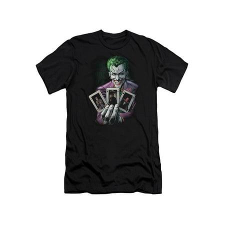 Joker Hat Batman (Batman DC Comics The Origin Of The Joker Cover Adult Slim T-Shirt)