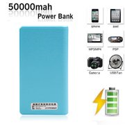 Portable 50000mAh Dual USB Output Power Bank Portable Charger for Smartphone Cellphone, with LED Digital Display