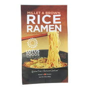 (10 Pack) Lotus Foods Millet & Brown Rice Ramen With Miso Soup, 2.8 Oz