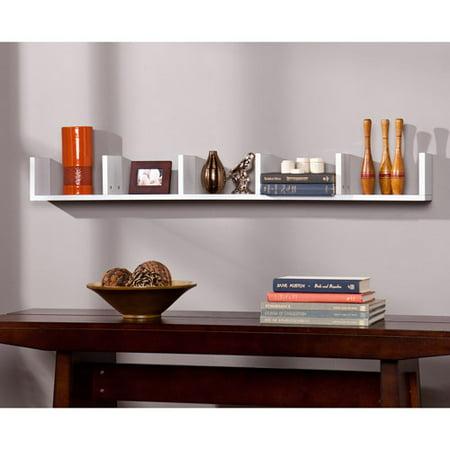 ithaca floating shelf white. Black Bedroom Furniture Sets. Home Design Ideas