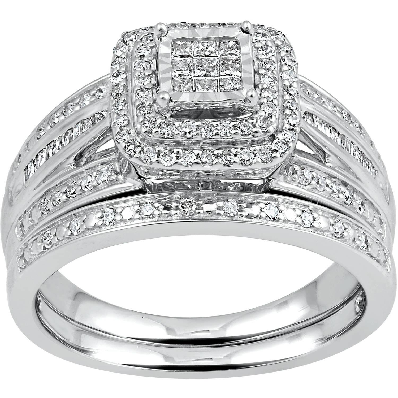Forever Bride Forever Bride 1 2 Carat T W Diamond Princess Quad