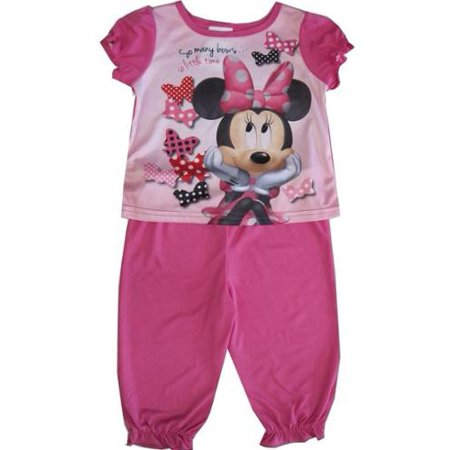 2ca3ecf7fd28 Disney - Baby Girls Pink Minnie Mouse Short Sleeve Two Piece Pajama ...