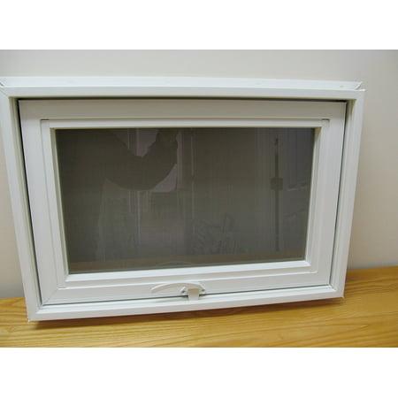 Awning Style Window 24 X 16 Double Pane Pvc Frame Walmartcom