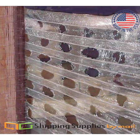 Vented Stretch Wrap w/ Die-Cut Holes 20 Inch x 1500 Feet 8 Pack by SSBM