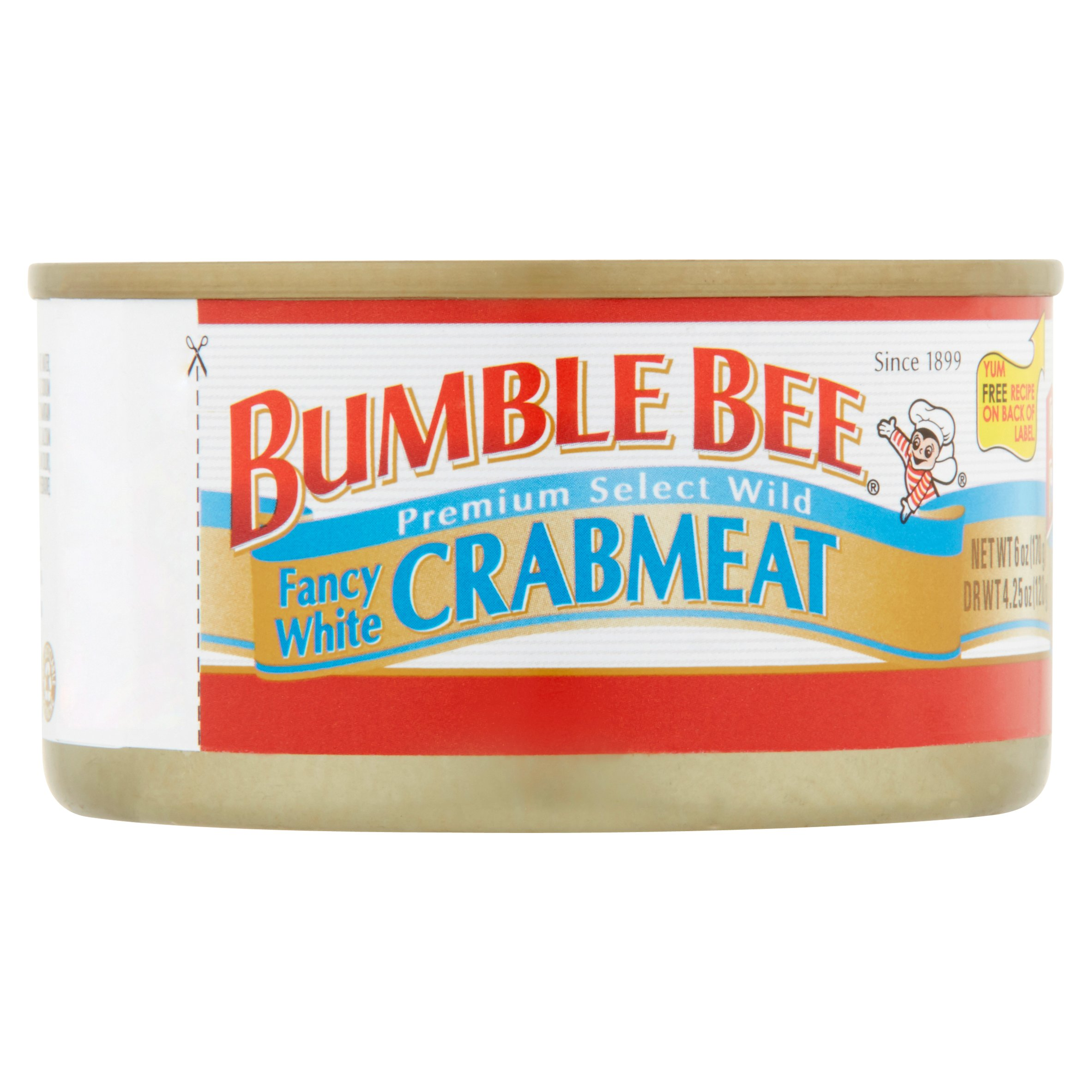 Bumble Bee Premium Select Wild Fancy White Crabmeat, 6oz can by Bumble Bee Seafoods