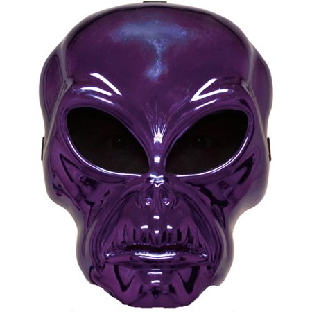 Purple Alien Hockey Mask Adult Halloween Accessory - Hockey Mask Halloween