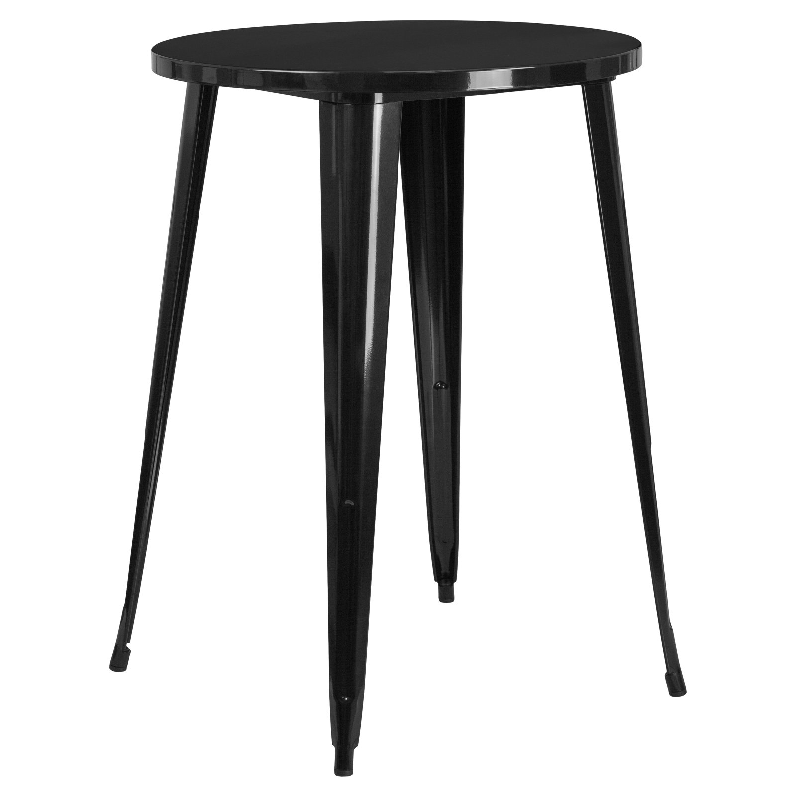 Flash Furniture 30'' Round Metal Indoor-Outdoor Bar Height Table, Multiple Colors