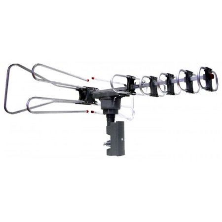 Naxa Naa-350 Amplified Outdoor Tv Antenna With Remote Directional Control – Range – Uhf, Vhf, Fm – 40 Mhz, 470 Mhz, 45 Mhz To 230 Mhz, 862 Mhz, 860 Mhz – 35 Db – Hdtv Antenna – Black (naa-350)
