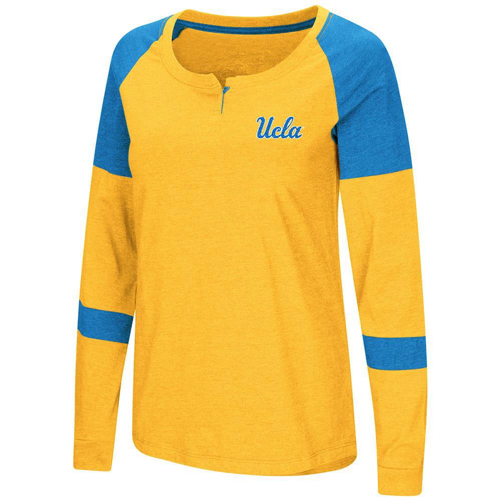 Womens UCLA Bruins Long Sleeve Raglan Tee Shirt XL by Colosseum
