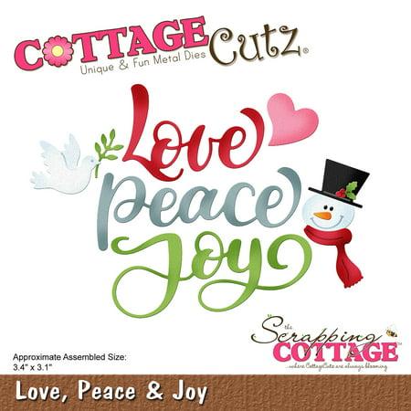 Cottagecutz Die-Love, Peace & Joy - image 1 de 1