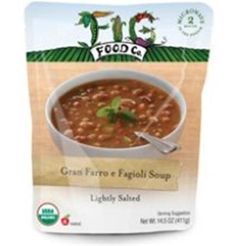 Fig Food Soup Og2 Gran Farro E Fag 14.5 OZ (Pack of 6) by Fig Food