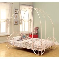 Coaster 400155T Home Furnishings Canopy Bed, Twin, Powder