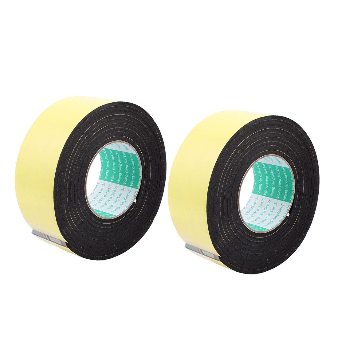2 Pcs 6CM Width 3 Meters Long 4MM Thick Single Sided Seal Shockproof Sponge Tape