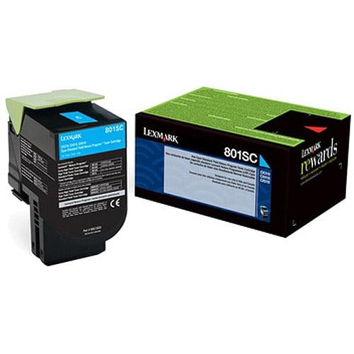 Lexmark 801SC Yield Return Program Toner Cartridge