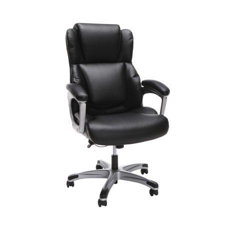 OFM Essentials Series Ergonomic Executive Bonded Leather Office Chair, in Black (Premium Bonded Leather)