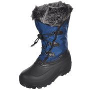 "Kamik Girls' ""Powdery"" Boots (Youth Sizes 13 - 7) - black/blue, 6 youth"