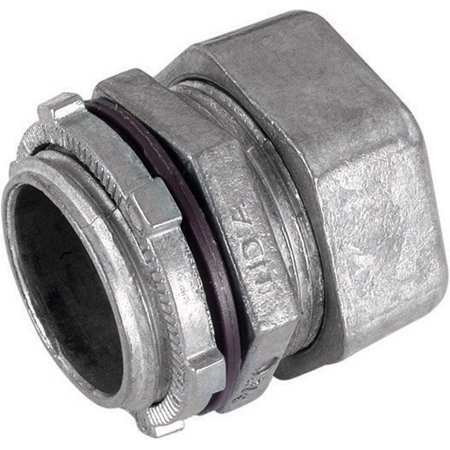 Emt Diecast Zinc Compression Connector - Sigma Electric ProConnex  3/4 in. Dia. Die-Cast Zinc  Rain-Tight Compression Connector  For EMT 1 pk