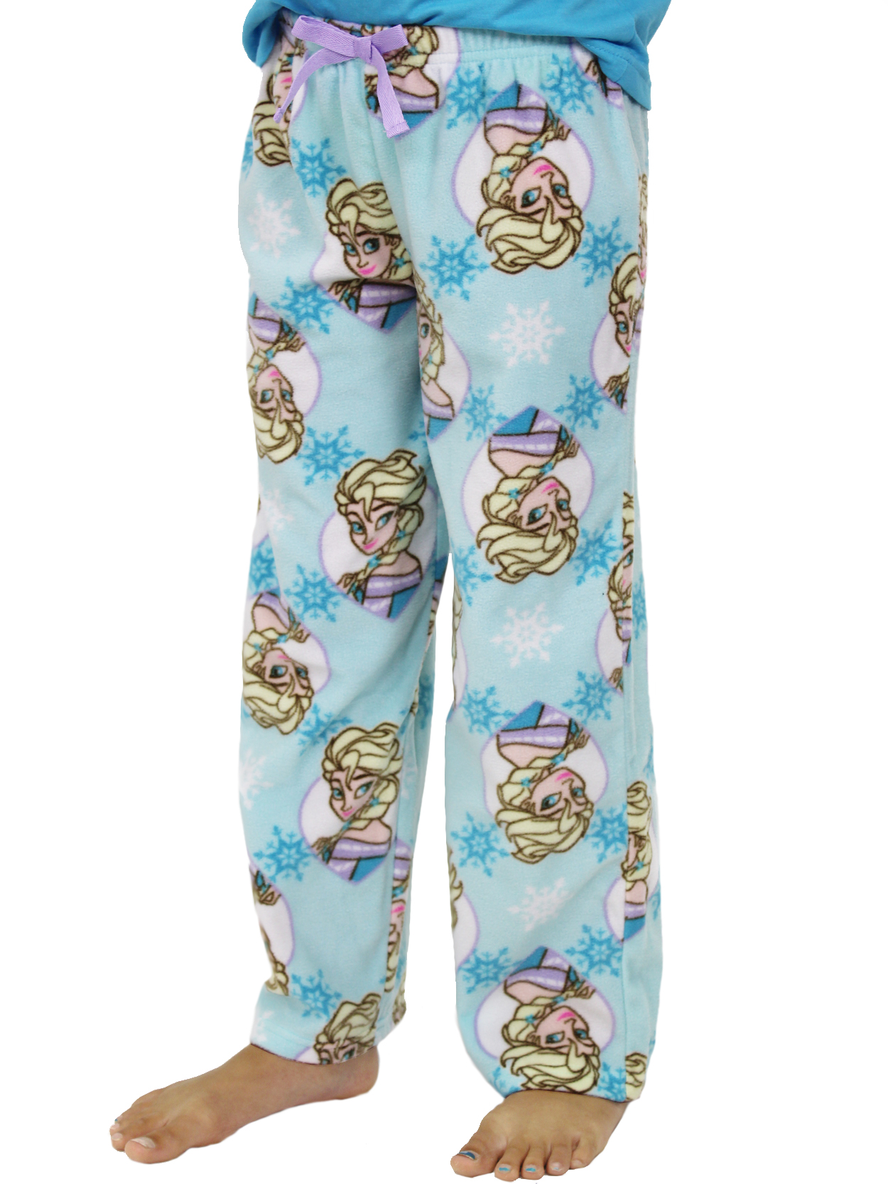 Disney Frozen Elsa Girls Plush Fleece Lounge Pajama Pants 21FZ762GPT