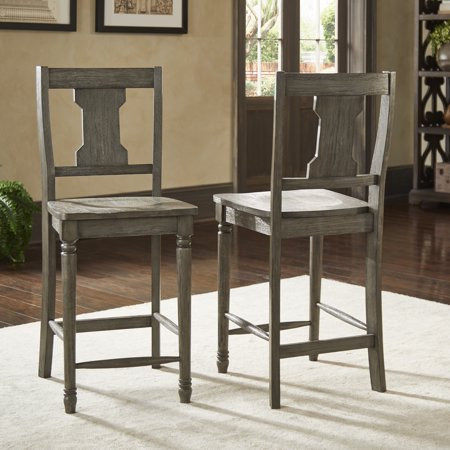 Peachy Weston Home Knudson Reclaimed Grey Finish 24 Inch Splat Counter Height Chair Set Of 2 Pdpeps Interior Chair Design Pdpepsorg
