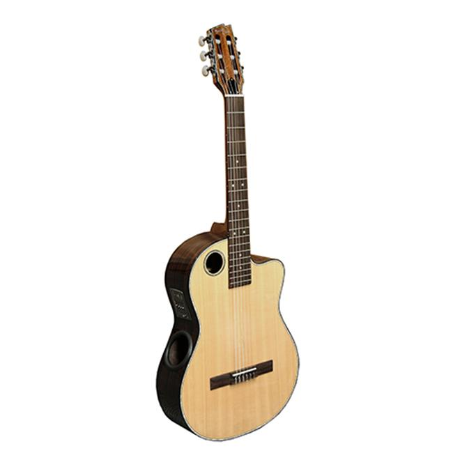 Boulder Creek Guitars ECL-2 Acoustic-Electric Solid Spruce Classical Guitar, Gloss Natural by