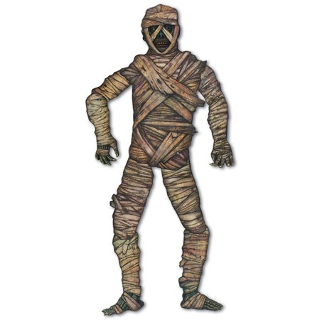 Club Pack of 12 Spooky Jointed Mummy Halloween Decorations 3.5'