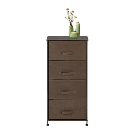 Ktaxon Dresser Storage Tower with 4 Drawers,Nightstand Chest ,Wood Top Chest Wood Top