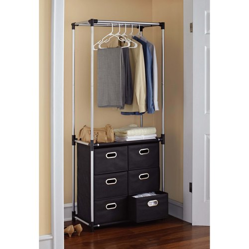 Mainstays 6 Drawer Closet Organizer, Black