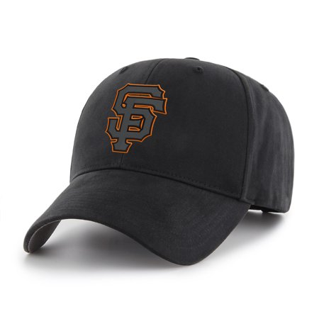 MLB Black Mass Basic Adjustable Cap/Hat by Fan - San Francisco Giants Corkscrew