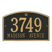 Personalized Whitehall Products Cape Charles 2-Line Standard Wall Plaque in Black Gold