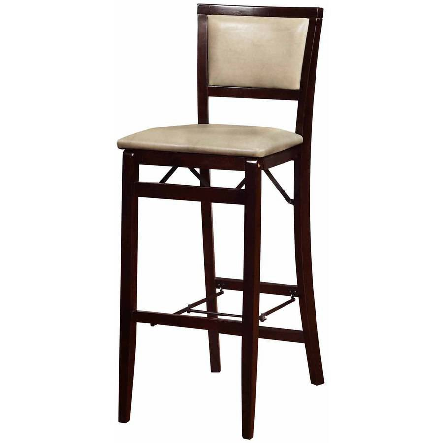 Linon Triena Jute Pad Back Folding Bar Stool 30 Inch Seat