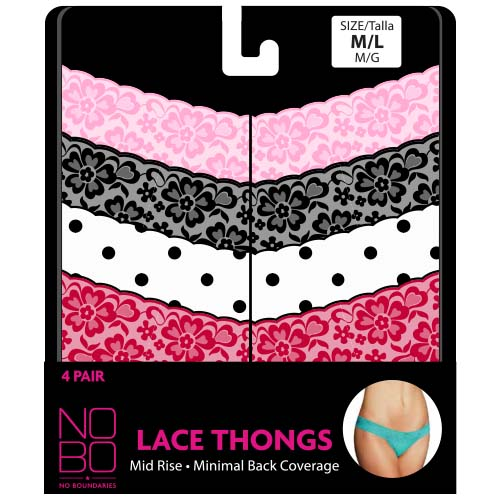 NB 4 Pack Lace Thong