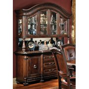 Antoinette Buffet & Hutch w Etched Glass Doors
