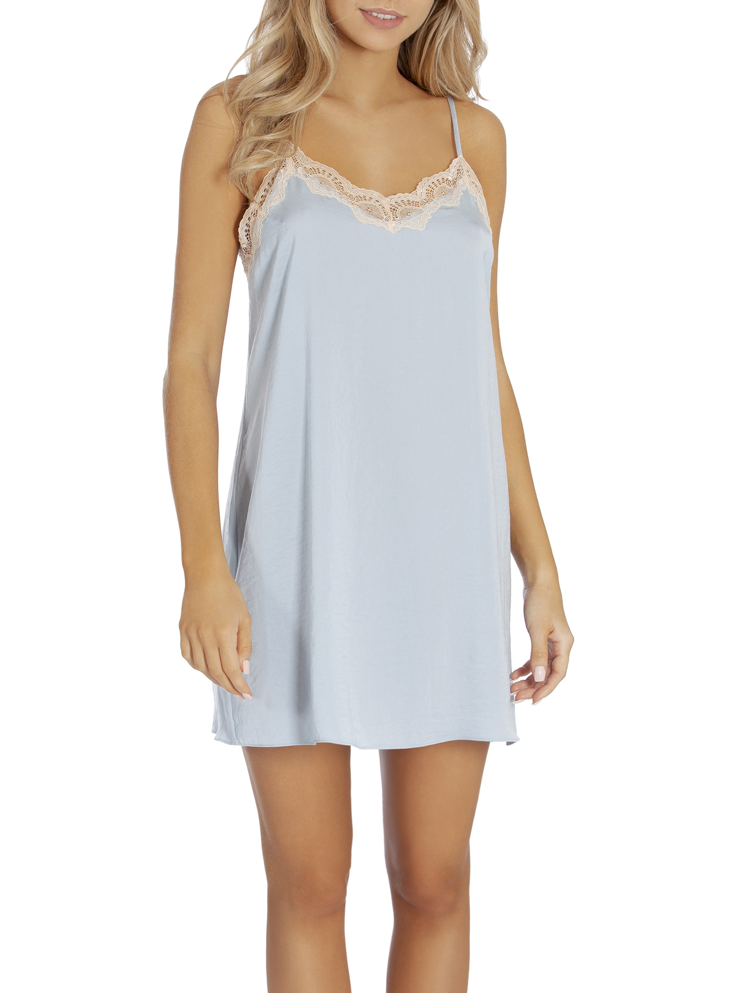 SECRET TREASURES WOMEN'S AND WOMEN'S PLUS CHEMISE SATIN SLD