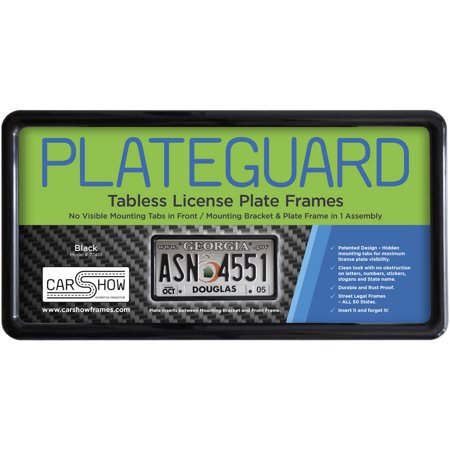 Plateguard Tabless License Plate Frame And Holder Bracket