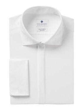 Mens Dress Shirt Slim Fit Comfort Collar 17