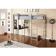 Abode Full Metal Loft Bed over Workstation Desk, Multiple Colors