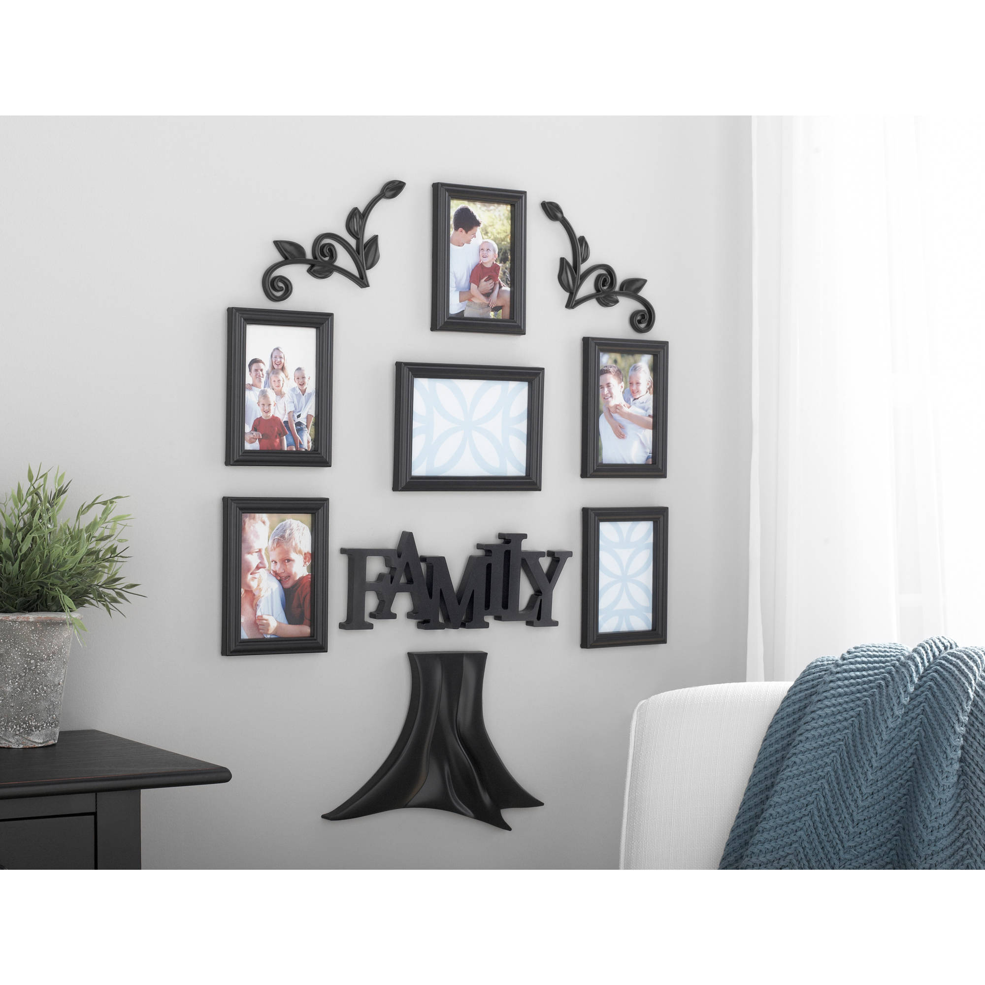 Mainstays 10-Piece Tree Expressions Wall Frame Set
