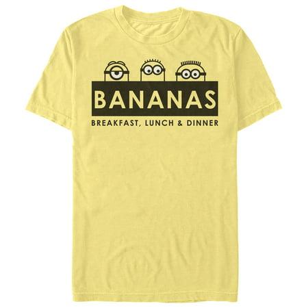 Despicable Me Men's Minions Banana T-Shirt - Minion Adult T Shirt