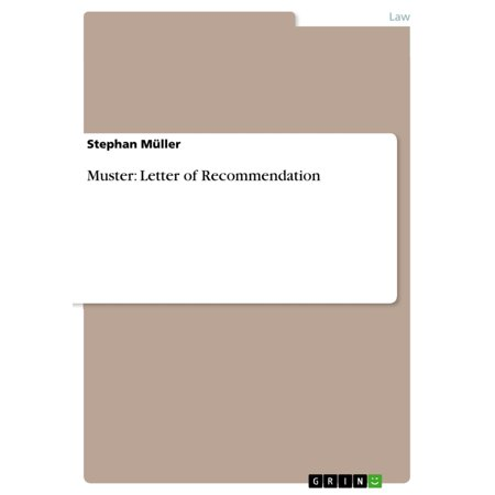 Muster: Letter of Recommendation - eBook