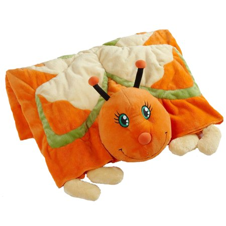 My Pillow Pets Plush Blanket: Orange Butterfly