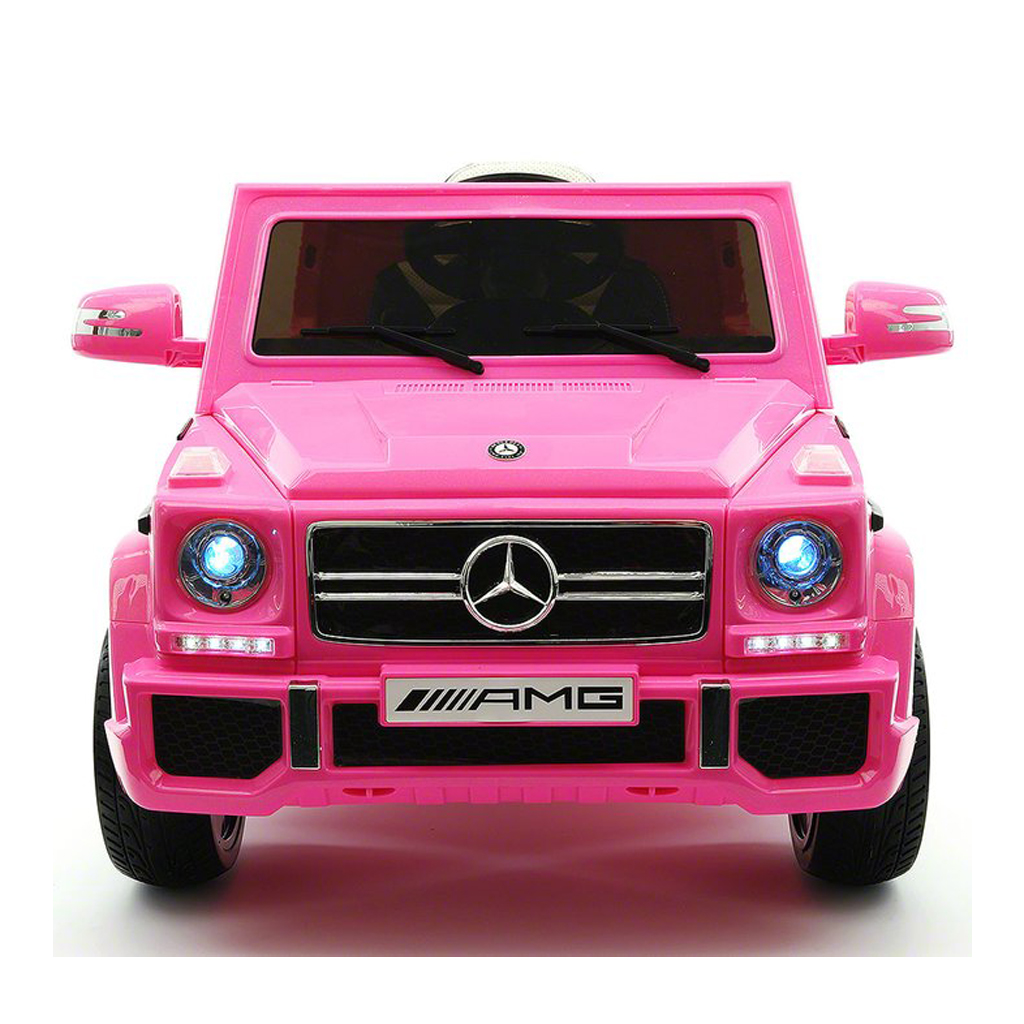 2017 Licensed Mercedes G65 AMG Electric Kids Ride-On Car, MP3 Player, AUX  Input,  Rubber Tires, PU Leather Seat With 5 Point Safety Harness, 12V Battery Powered, Parental Remote | Pink