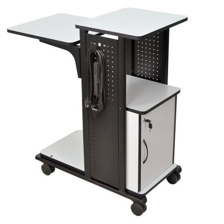 Luxor mobile laptop computer presentation cart with security cabinet - Computer cart walmart ...