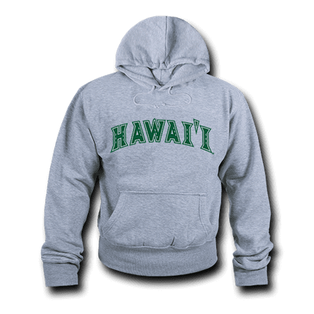 Fleece Ncaa Pullover Sweatshirt - NCAA Hawaii University Hoodie Sweatshirt Game Day Fleece Pullover Heather Grey Large